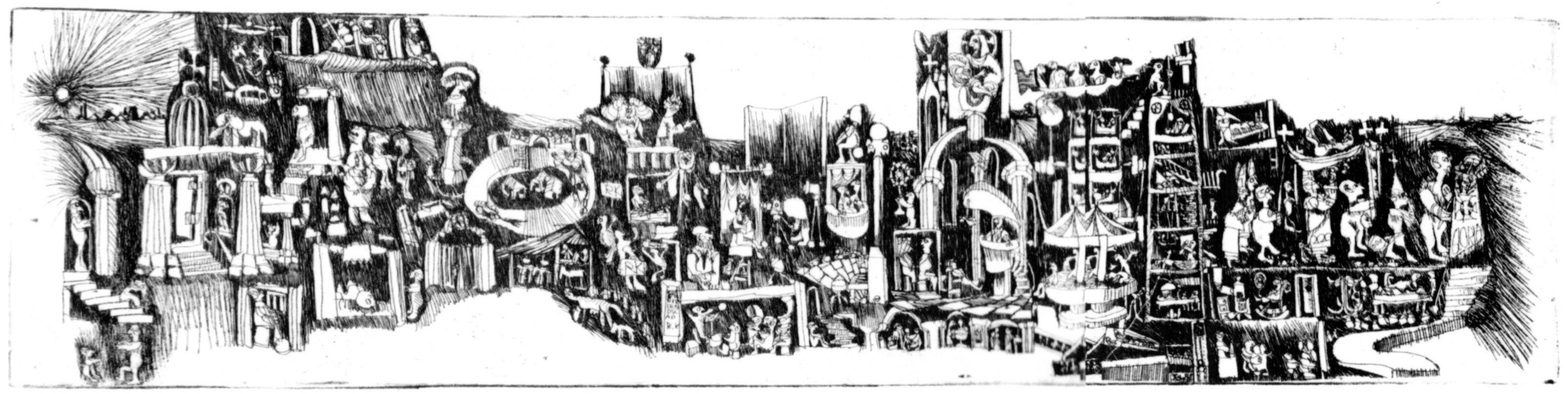 Lijnets van Dorus van der Linden, 1964 - prive-archief Dorus van der Linden