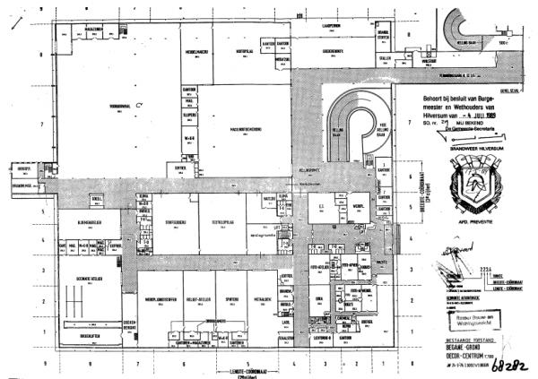 Indeling begane grond Decorcentrum in de jaren zeventig en tachtig  (met dank aan Johan Veenstra)