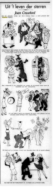 Voor Het Volk tekent Weynand de rubriek 'Uit 't lever der sterren'. (25-2-1932, Koninklijke Bibliotheek)