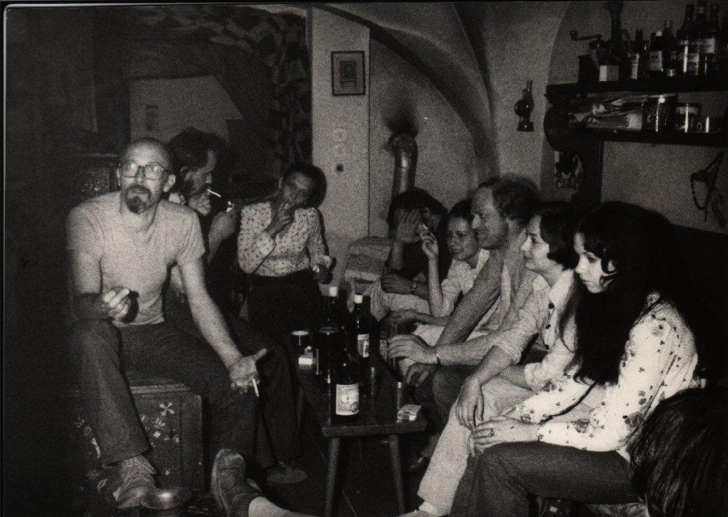 Herman Coenen op een feestje, ergens eerste helft van de jaren 17. Foto uit archief van Freek Biesiot
