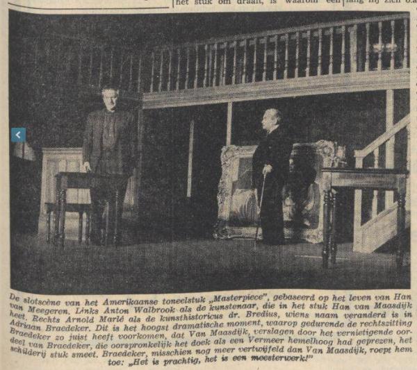 Scenefoto uit Masterpiece van Larry Ward en Gordon Russel. Bron: Nieuwsblad van het Noorden, 20-2-1961. Fotograaf: niet bekend